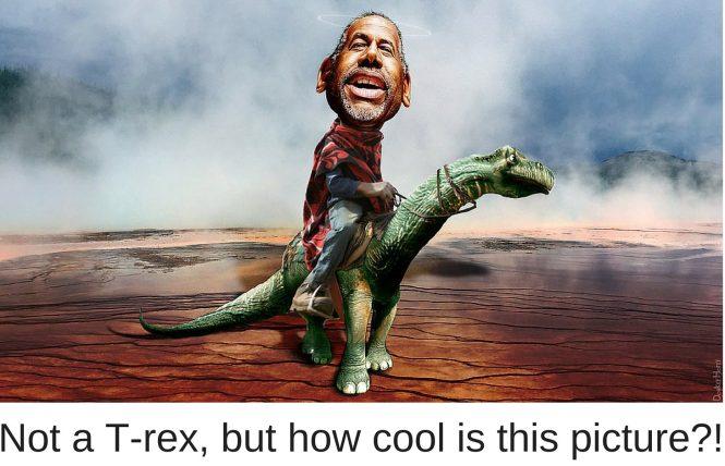 Ben Carson Riding a Dinosaur