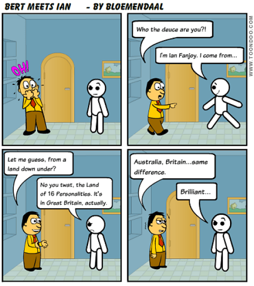 Bert Meets Ian Cartoon
