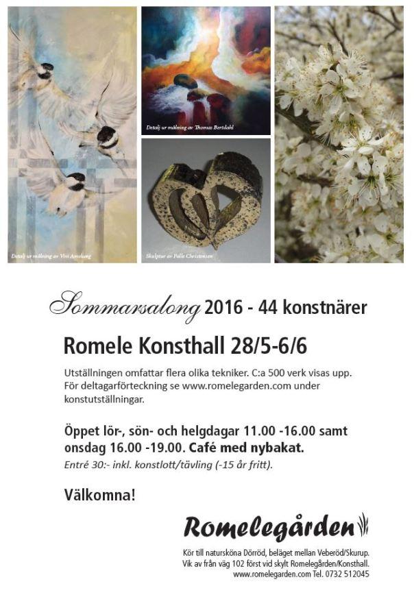 Välkommen till 2016 års Sommarsalong på Romele Konsthall