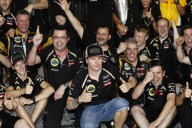 Lotus celebrates first win since 1986