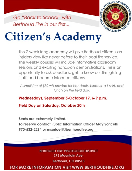 Citizen's Academy Flier