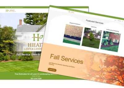 Website Design for Hieatt Lawn & Landscape | Bertke Creative | Marketing Advertising & Graphic Design