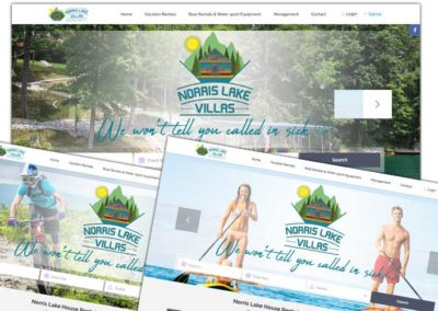 Website Design, SEO (Search Engine Optimization), Image Optimization | Norris Lake Villas Website Design