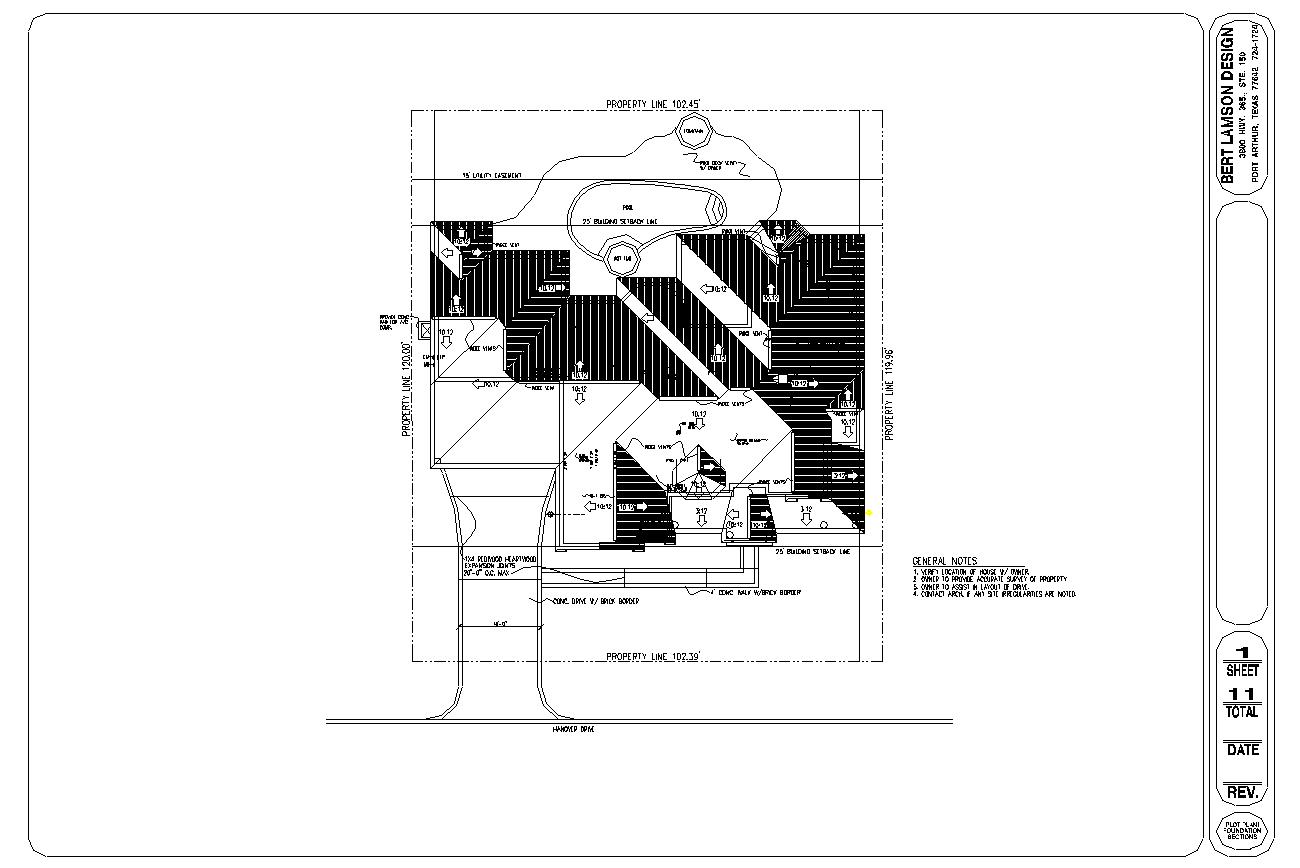 Bert Lamson Design Plot Plan