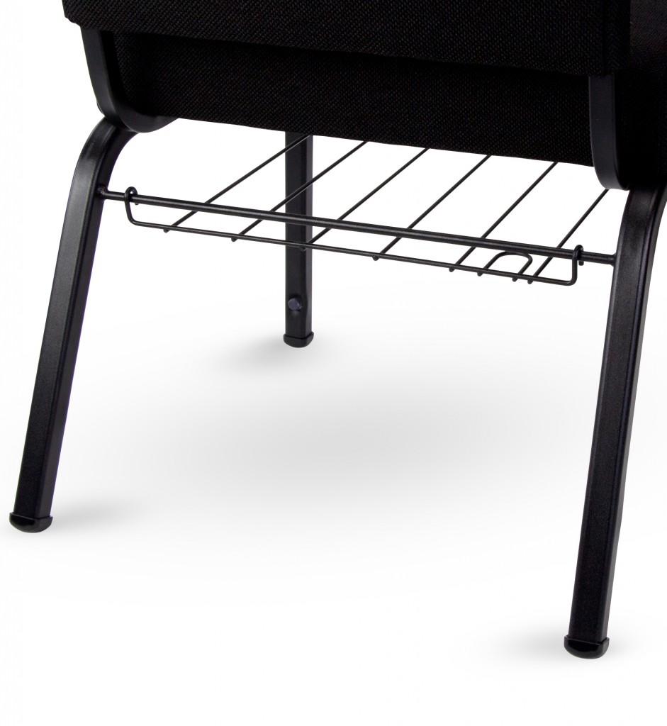 church chair accessories folding beach chairs argos add on book rack bookrack rear access view
