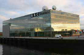 An image of the BBC Pacific Quay building