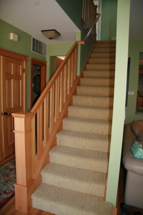 Bertram Blondina Handrail And Stair Craftsman Style Stairs