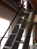 Alternating Tread Stair w/Steel Hand Rail   Bertram Design llc