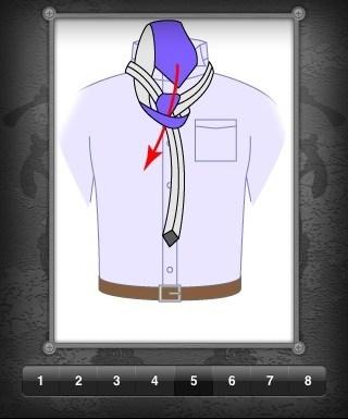 Une appli iPhone pour apprendre à faire un noeud de cravate