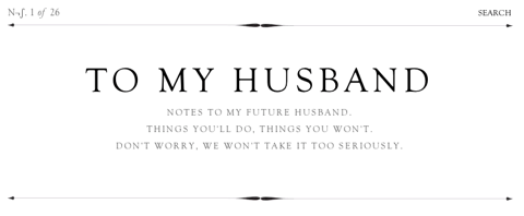 To my husband et To my wife