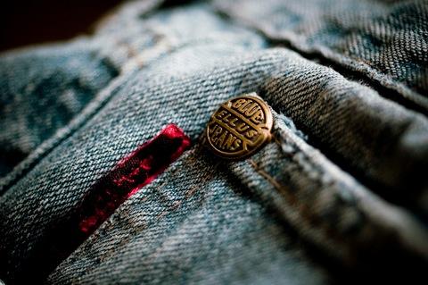 Zoom rivet jeans