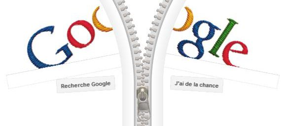 Fermeture eclair sur Google