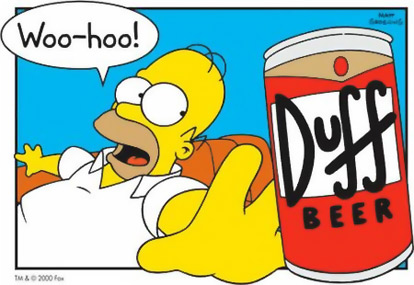 Simpson duff beer internet homer