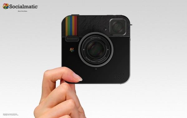 Socialmatic : l'appareil photo inspiré d'Instagram et Polaroid en vente en 2013