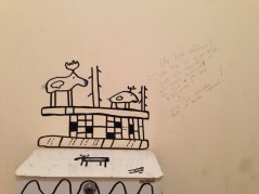 Jeudi 19 septembre : art rupestre dans les toilettes de la Fac