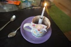 Mercredi 2 octobre : Mug cake d'anniversaire... le mien.