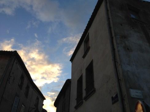 Samedi 5 octobre : joli ciel, encore, devant notre maison