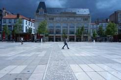 Mercredi 4 juin : ciel noir au dessus de la Place de Jaude à Clermont