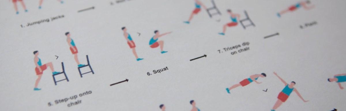 7 minutes et 12 exercices pour garder la forme