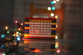 Samedi 3 janvier : mon calendrier Lego à jour et joli bokeh photo