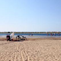 A la plage en vélo