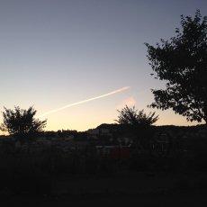 Ciel du soir avant d'aller à la piscine