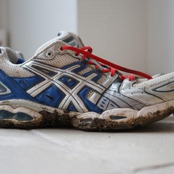 Dimanche 10 janvier : mes runnings pleines de boue