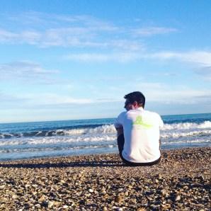 Petite pause pour apprécier la mer