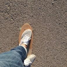 Skate au bord de la mer