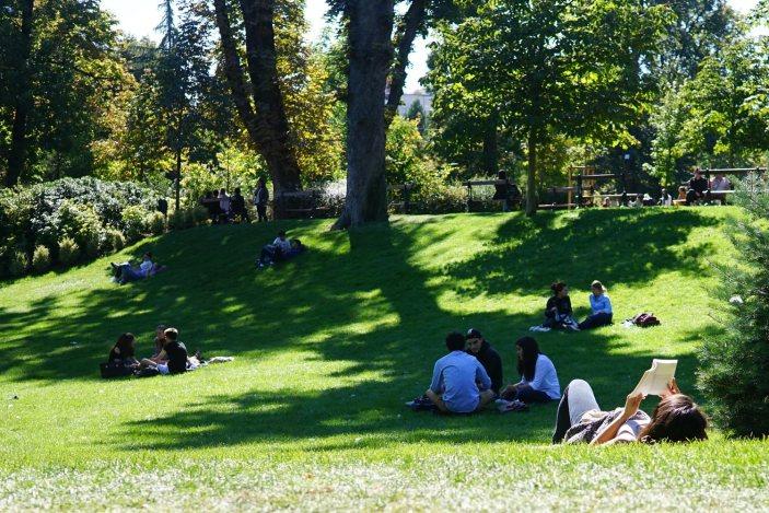 Pause au soleil au Jardin Lecoq