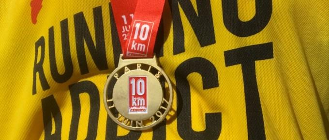 Compte-rendu : J'ai décroché ma médaille du 10km L'Equipe 2017 !