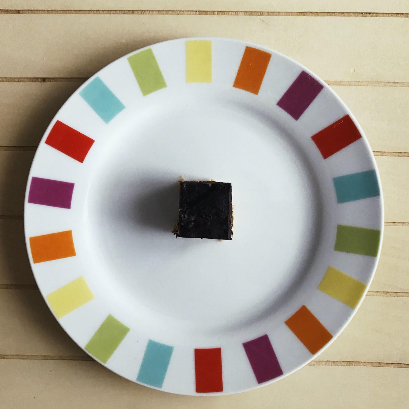 carrés gourmands au chocolat noir et beurre de cacahuète