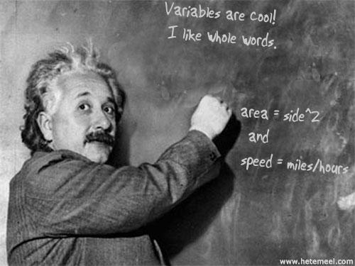 Einstein on variables