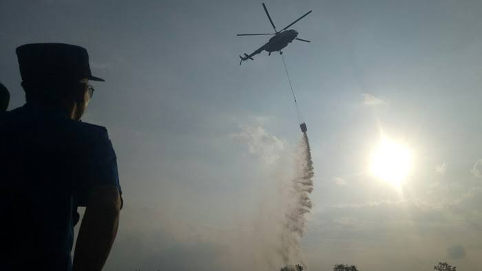 BPBD Riau Ajukan Tambahan Helikopter untuk Bantu Tangani Karhutla