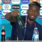Setelah Ronaldo, Paul Pogba Juga Singkirkan Minuman Beralkohol Saat Konferensi Pers