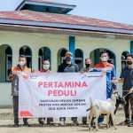 Pertagas Bagikan Hewan Kurban di 47 Titik Area Proyek Rokan