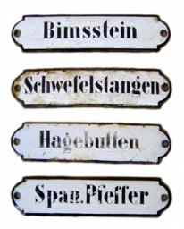 alte Apothekenschilder aus Emaille