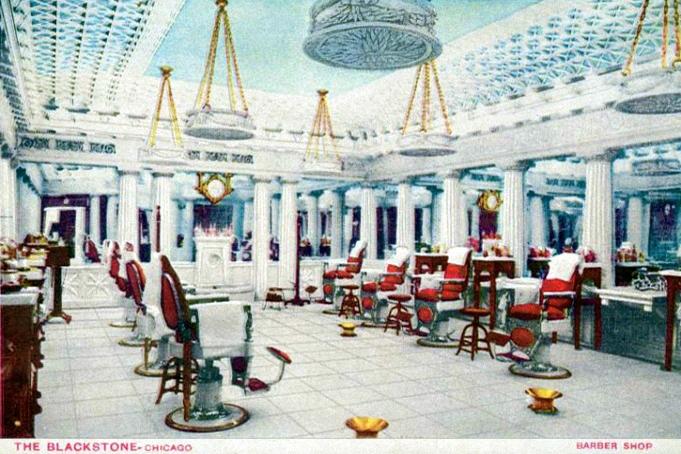 Barbershop, Chicago, um 1940