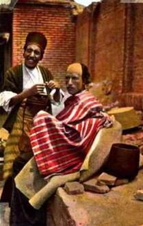 PK: Barbier mit Kunden