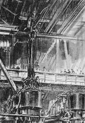 sw-Zeichnung: Brückenbau