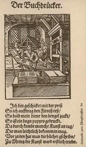 Buchdruckerei, mit Text