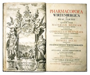 Arzneibuch, Medizin, Apotheker, Würtembergische Pharmacopoe