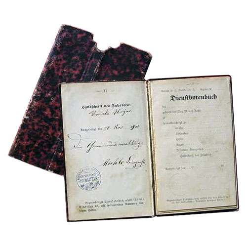 Dienstbotenbuch, Gesindedienstbuch