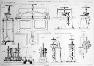 sw-Zeichnung: Holzfassherstellung: benötigte Maschinen