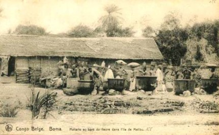 altes Foto: Ölherstellung in Kongo