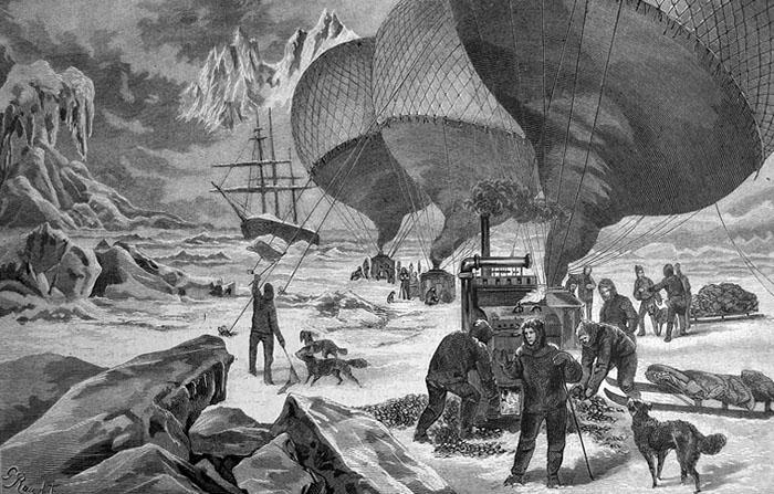 Polarforscher auf Expedition am Nordpol