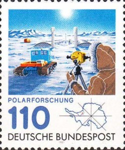 Briefmarke der Bundespost: zur Polarforschung