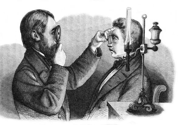 Augenspiegel, Augenarzt, Augenuntersuchung