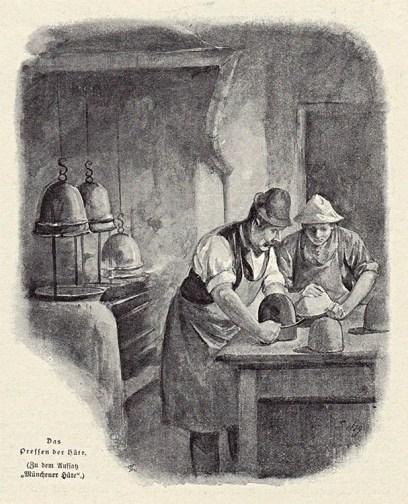 Münchener Hüte, Hutmacher, Handwerk