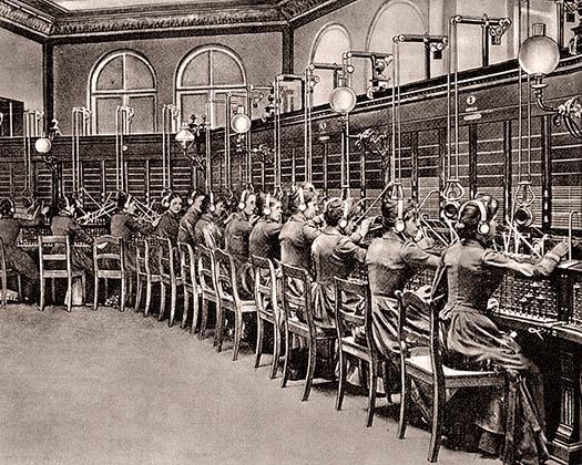 Telefonistinnen, Telefonvermittlung, Fernsprechamt, Schichtdienst